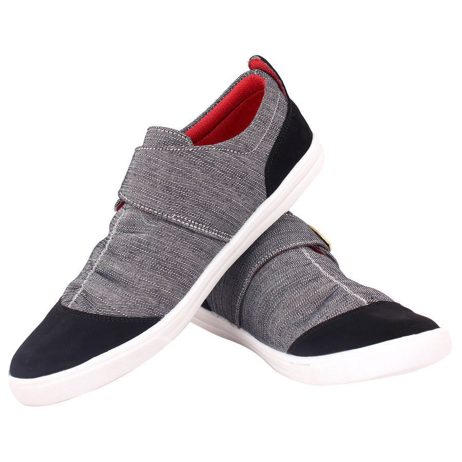 Kraasa 6005 Grey Canvas Shoes - TheKraasa