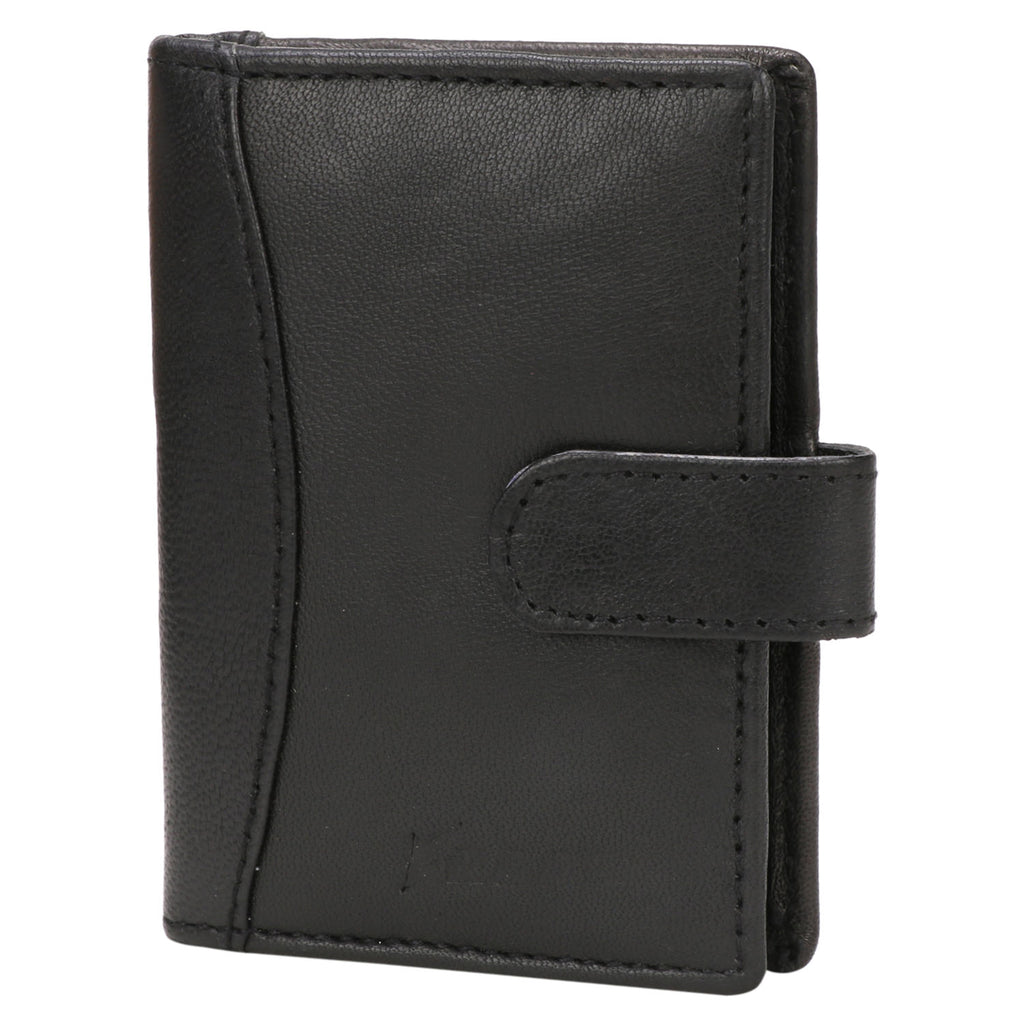 Kraasa Men Black Genuine Leather Card Holder (4 Card Slots)