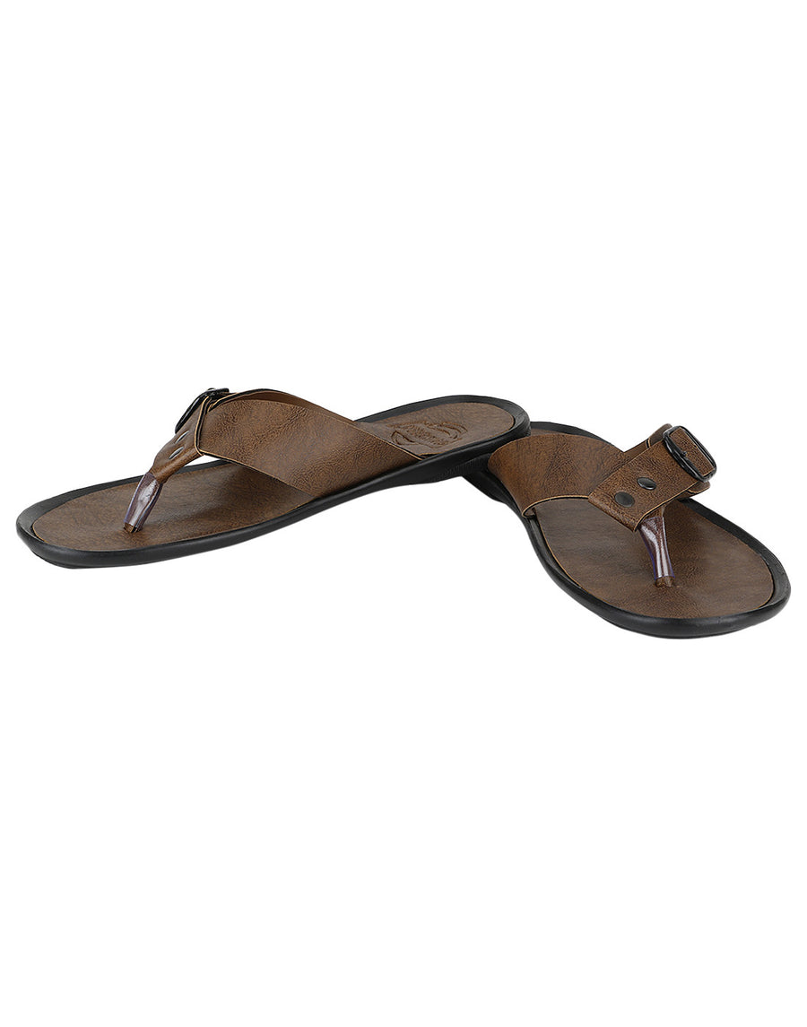 Kraasa 918 Tan Slippers