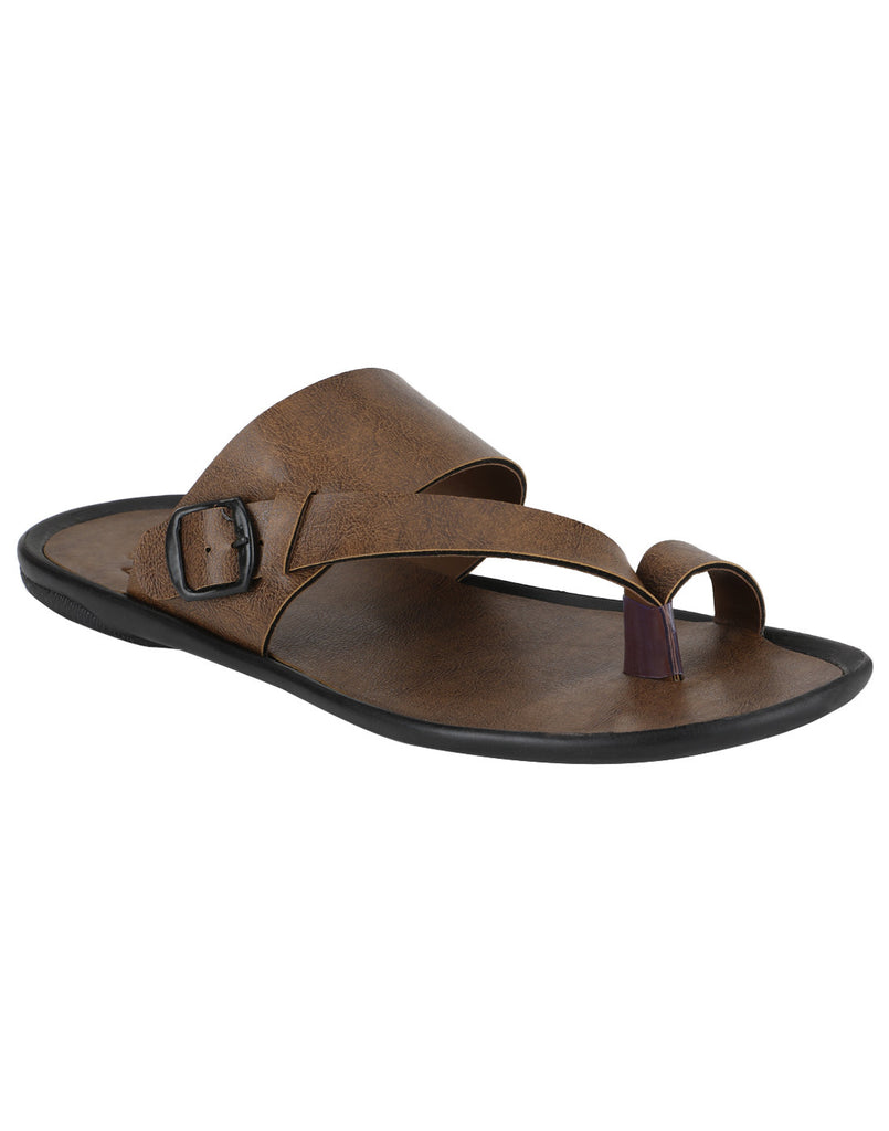 Kraasa 958 Tan Slippers - TheKraasa