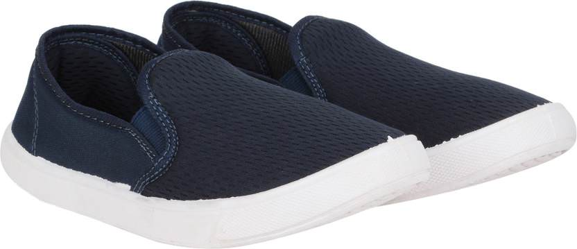 Shoe Daddy Slip On Sneakers For Men (Navy)