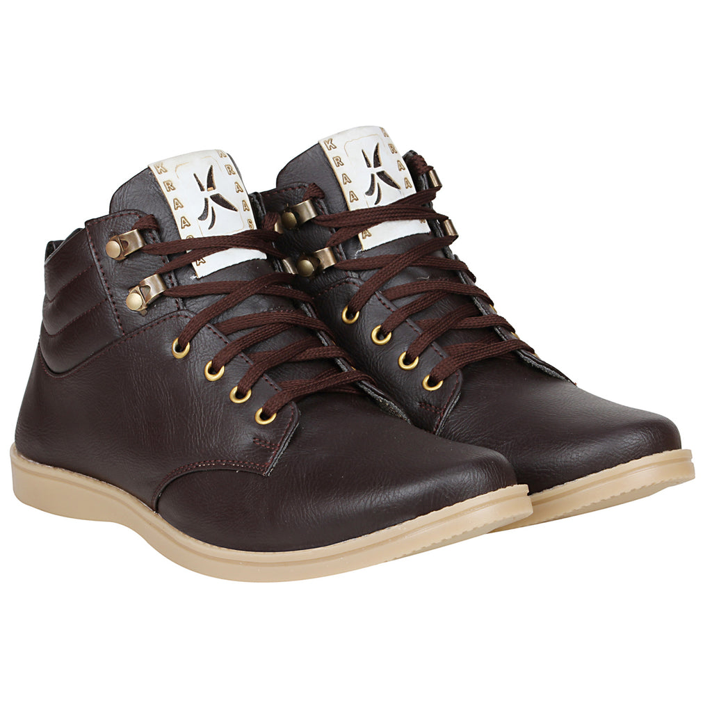 Kraasa 4187 Coffee Casual Boots