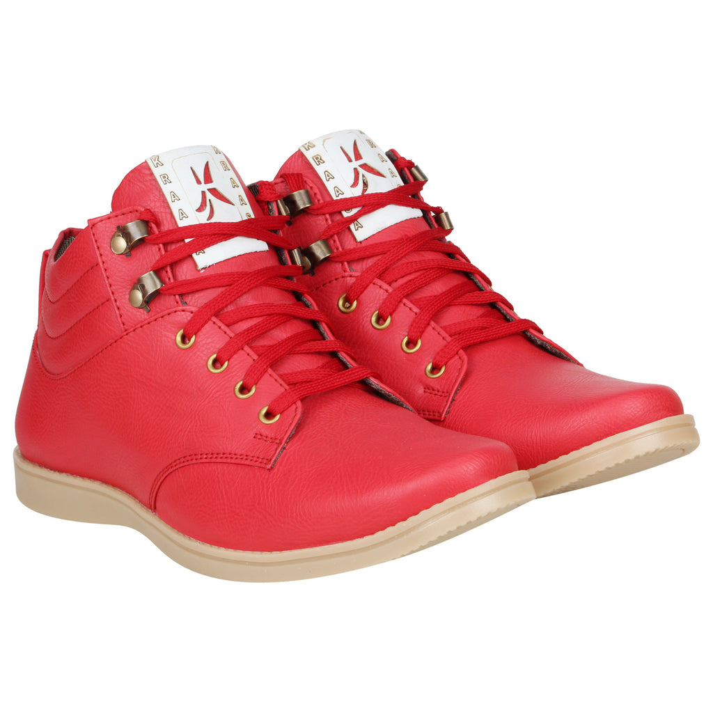 Kraasa 4187 Red Casual Boots
