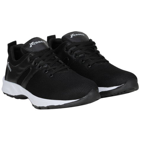 Kraasa 7037 Black Sports Running Shoes