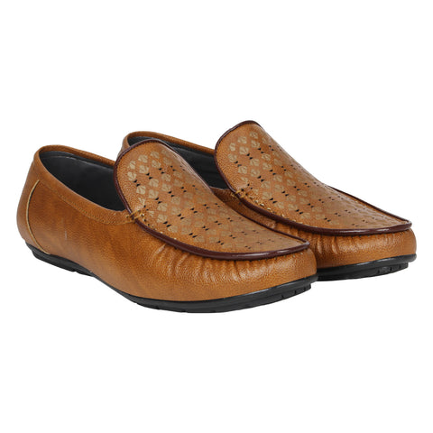 Kraasa CA4172 Tan Casual Loafers