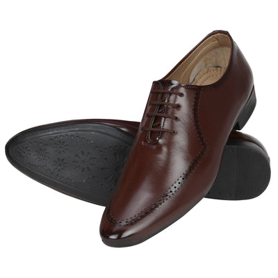 Kraasa 1073 Brown Formal Shoes