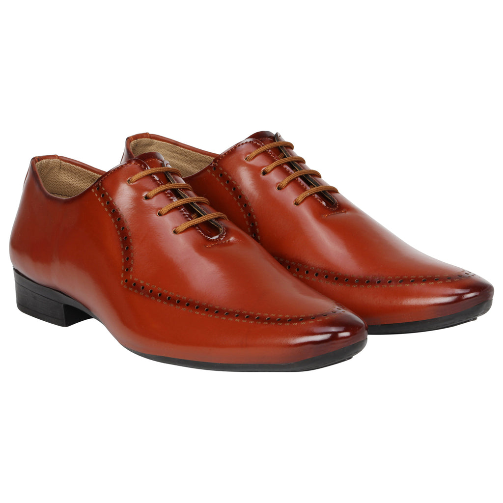 Kraasa 1073 Tan Formal Shoes