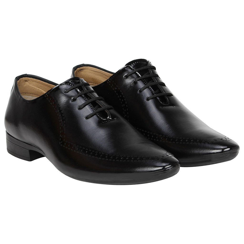 Kraasa 1073 Black Formal Shoes
