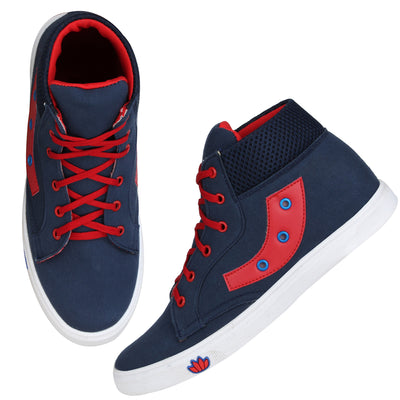 Kraasa 4118 NavyRed Casual Shoes