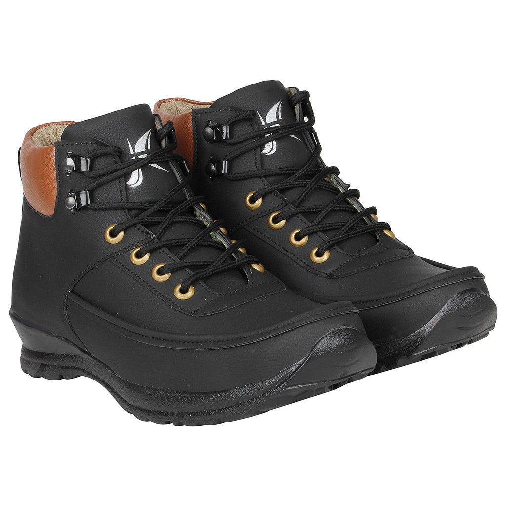 Kraasa 4158  Black Casual Boots for Men