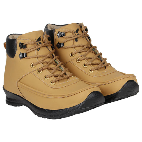Kraasa 4158  Tan Casual Boots for Men