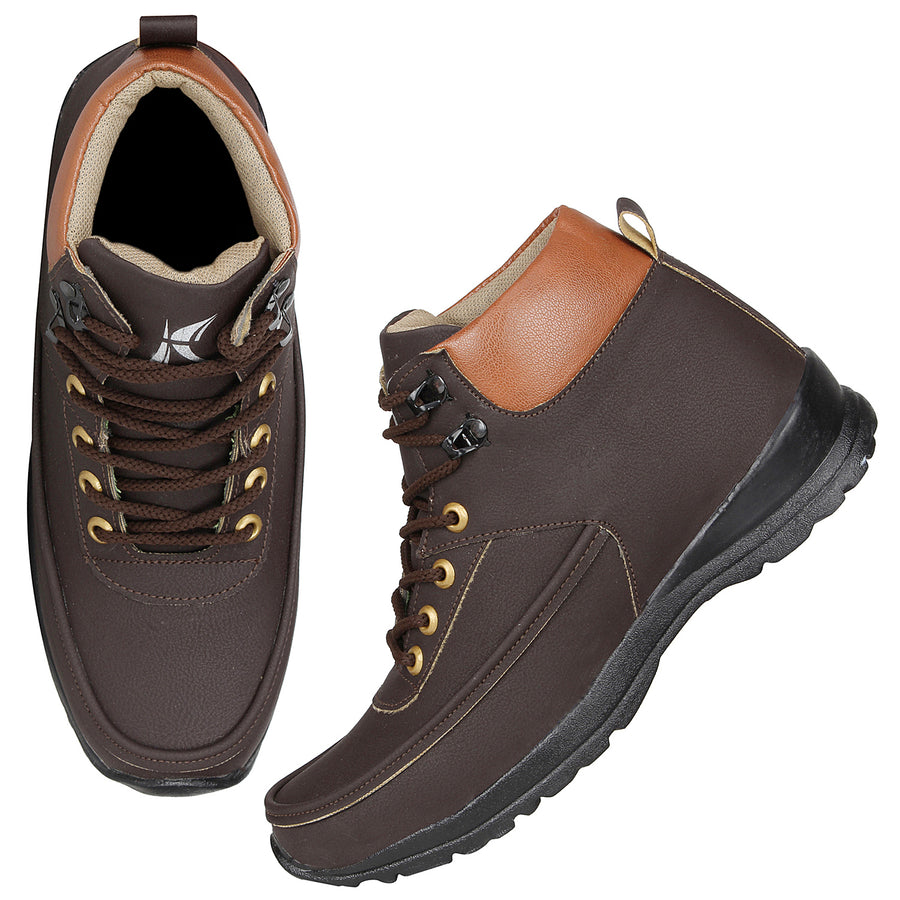 Kraasa 4158  Brown Casual Boots for Men