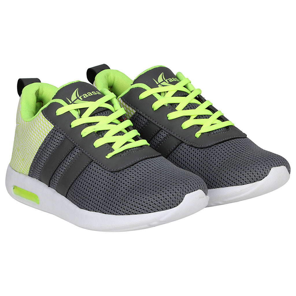 Kraasa 7052 GreyGreen Sports Fast Running Shoes