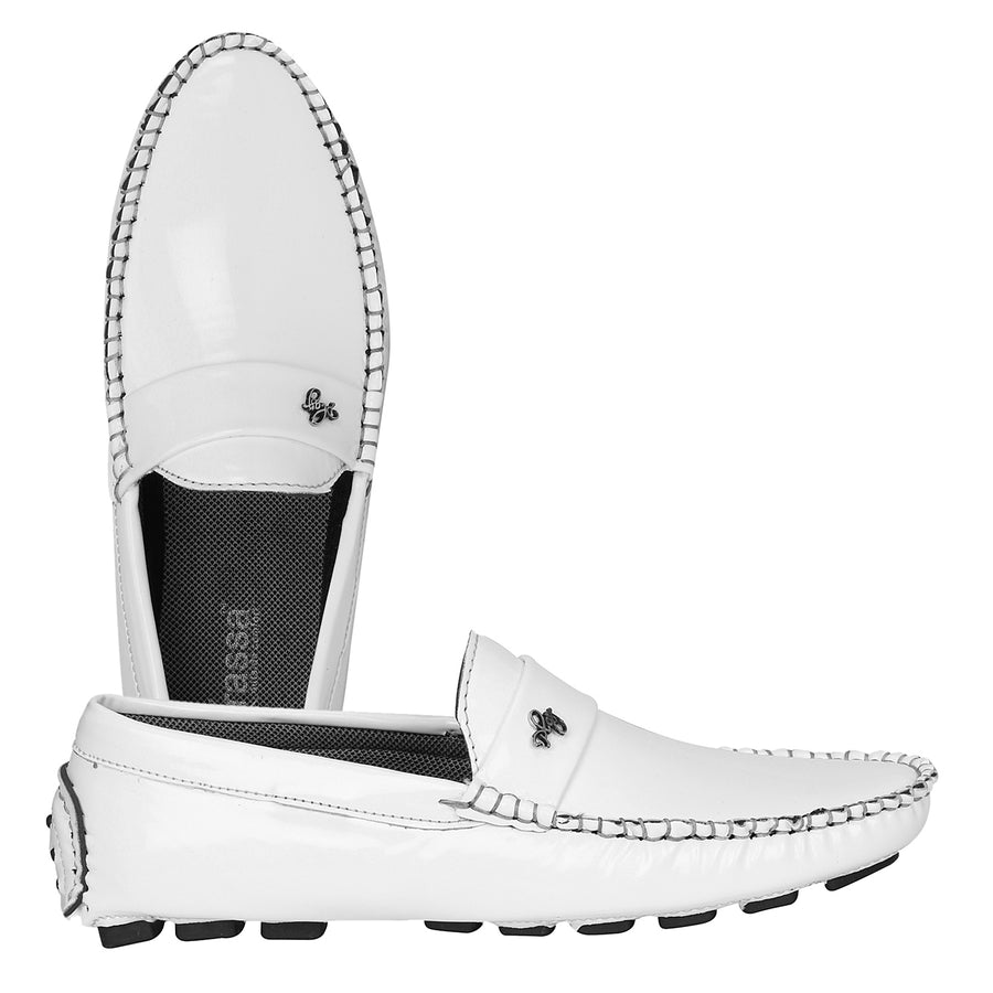 Kraasa 4141 White Loafers
