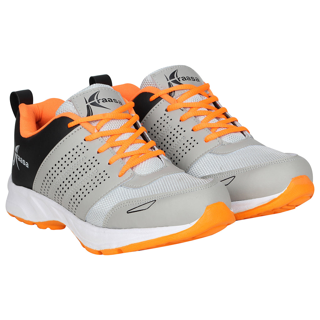 Kraasa 7053 GreyBlack Sports Fast Running Shoes