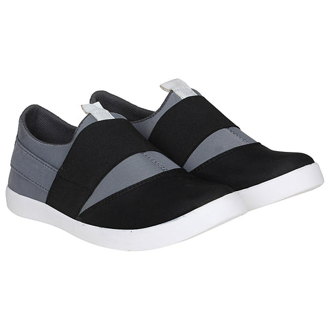 Kraasa 4162 BlackGrey Slip-on Sneakers