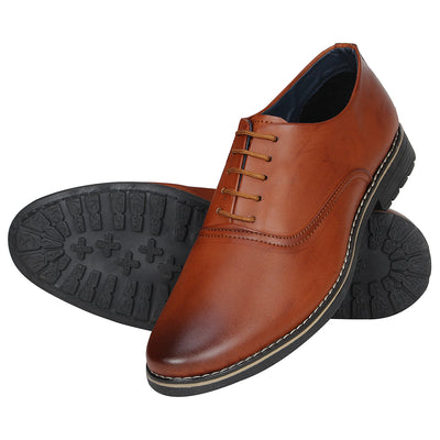 Kraasa 1077 Tan Formal Shoes