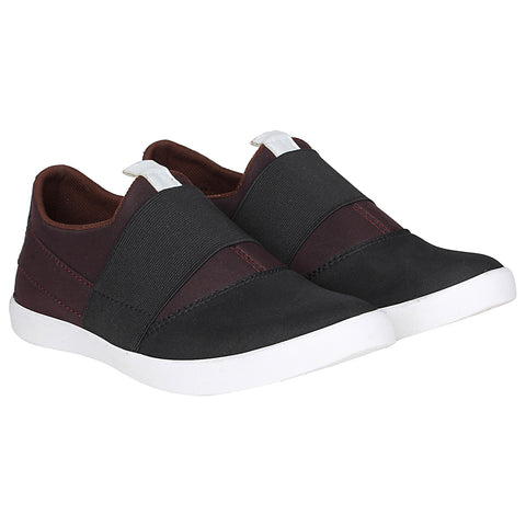 Kraasa 4162 BlackBrown Slip-on Sneakers