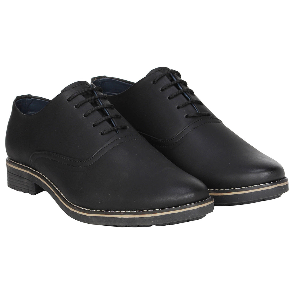 Kraasa 1077 Black Formal Shoes
