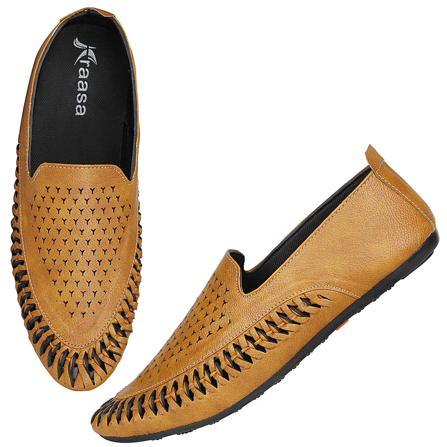 Kraasa 4171 Tan  Casual Loafers for men
