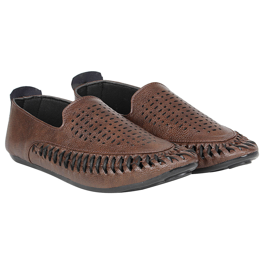 Kraasa 4171 Brown  Casual Loafers for men