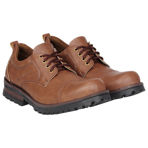 Kraasa 4165 Brown Patent Leather Casual Boots