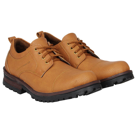 Kraasa 4165 Tan Patent Leather Casual Boots