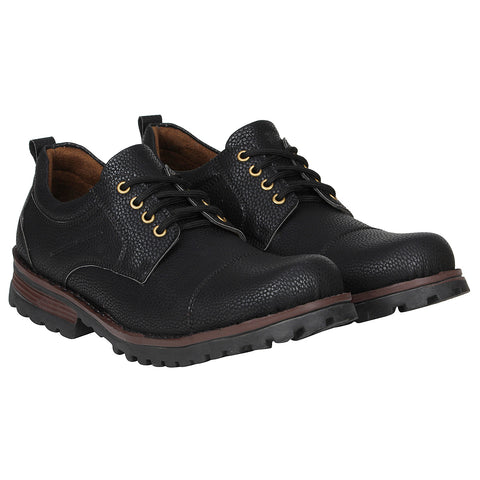 Kraasa 4165 Black Patent Leather Casual Boots