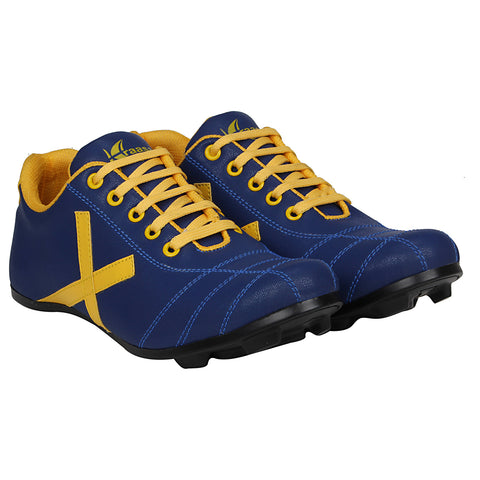 Kraasa 7054 BlueYellow Athletic Football Shoes