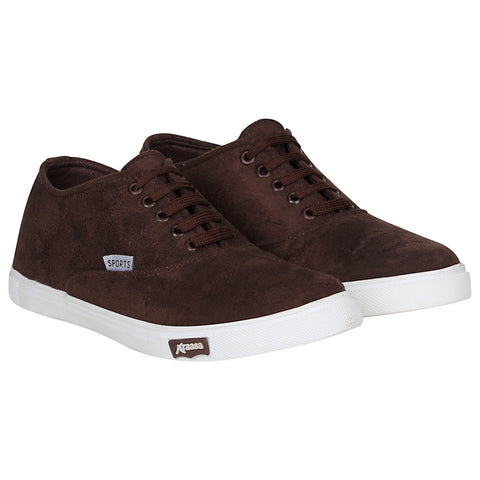 Kraasa 4167 Brown Casual Lace-up Sneakers