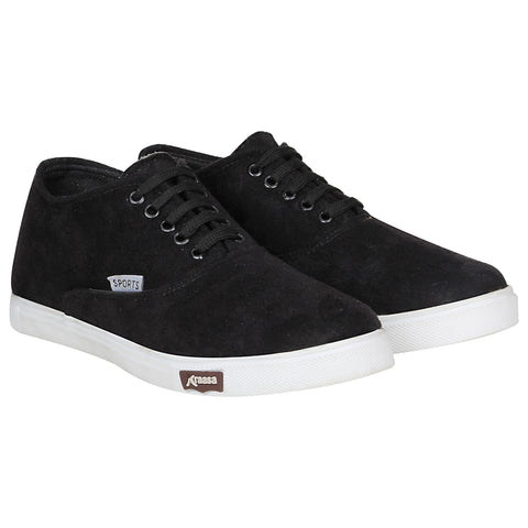 Kraasa 4167 Black Casual Lace-up Sneakers