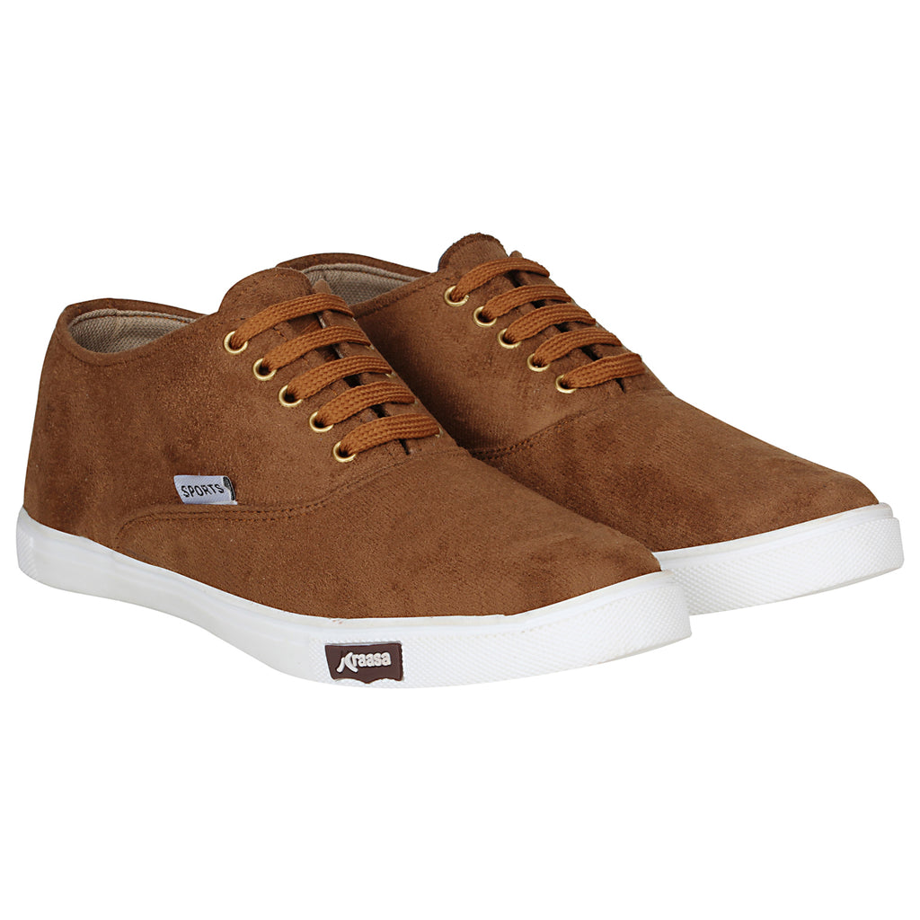 Kraasa 4167 Tan Casual Lace-up Sneakers