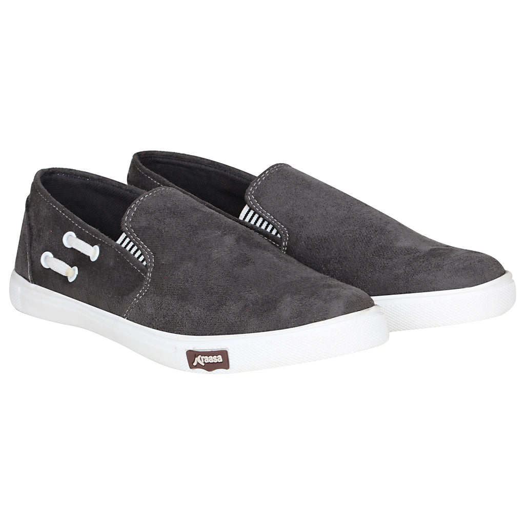 Kraasa 4168 Grey Casual Slip-on Sneakers