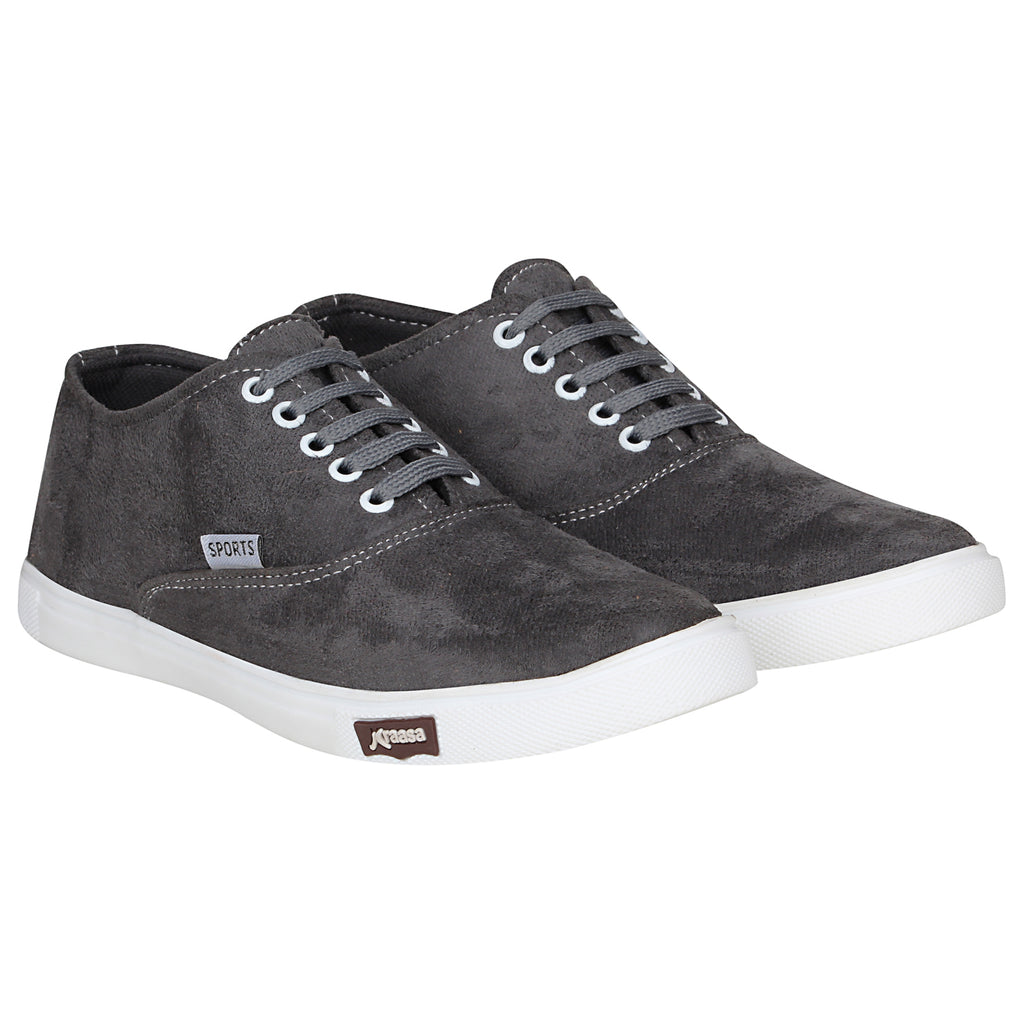 Kraasa 4167 Grey Casual Lace-up Sneakers