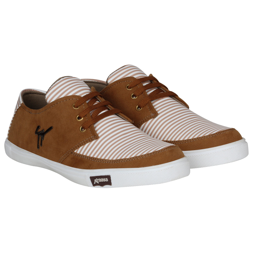 Kraasa 4170  Brown Casual Sneakers for Men