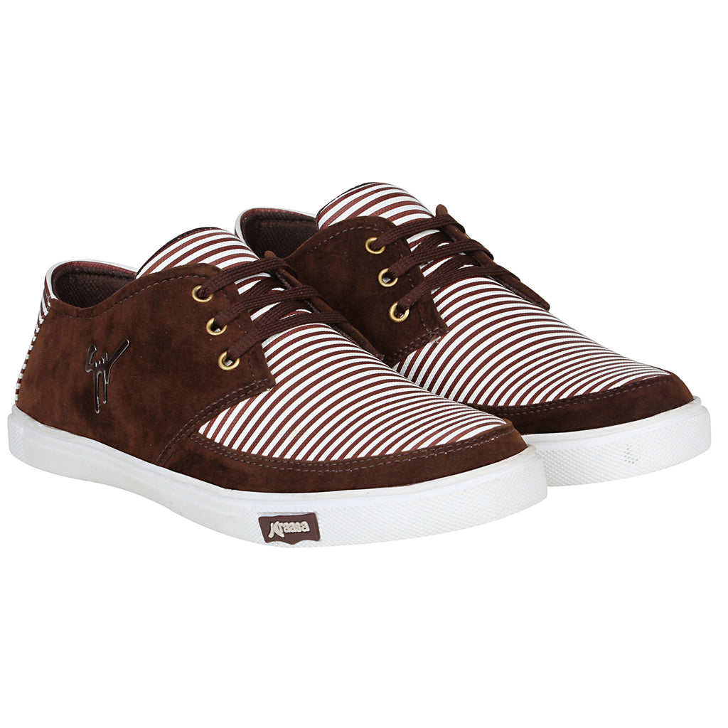 Kraasa 4170  Coffee Casual Sneakers for Men
