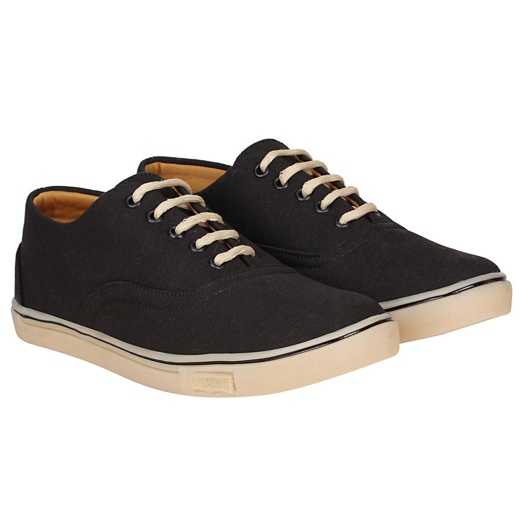 Kraasa 4166  Black Casual Canvas Sneakers