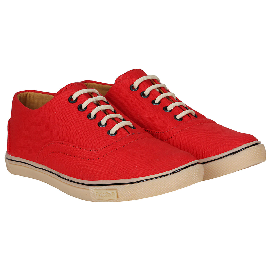 Kraasa 4166  Red Casual Canvas Sneakers