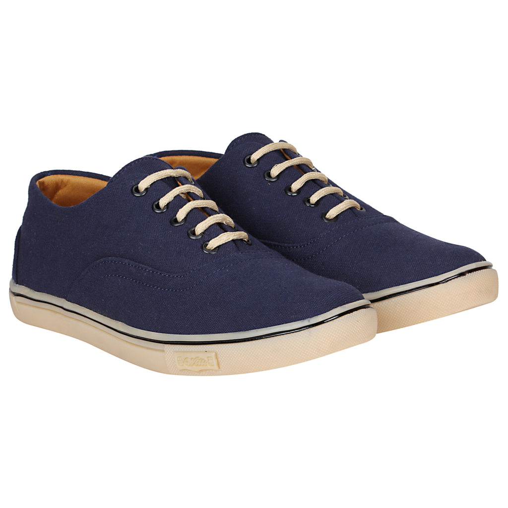 Kraasa 4166  Navy Casual Canvas Sneakers