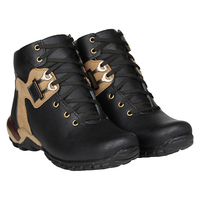 Kraasa 4121 BlackCream Boots