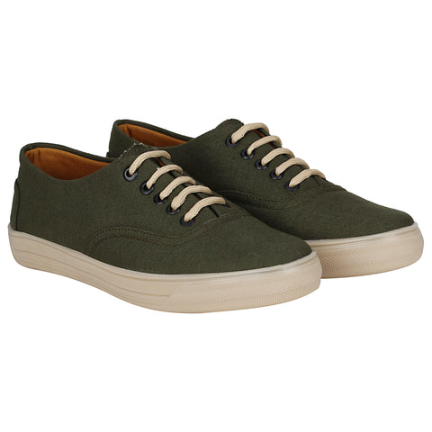 Kraasa 4179 Khaki Casual Canvas  Sneakers