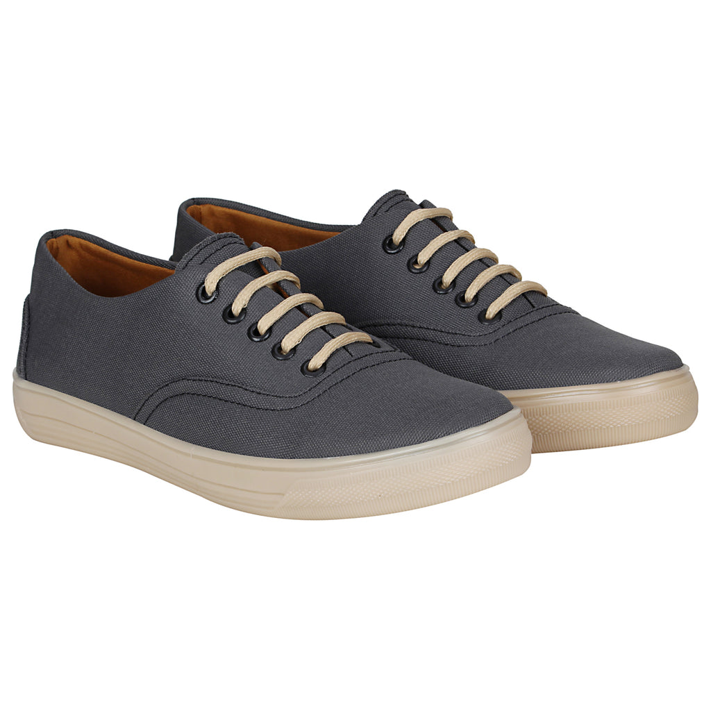 Kraasa 4179 Grey Casual Canvas  Sneakers