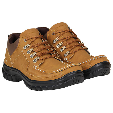 Kraasa 4180 Tan Casual Men Boots
