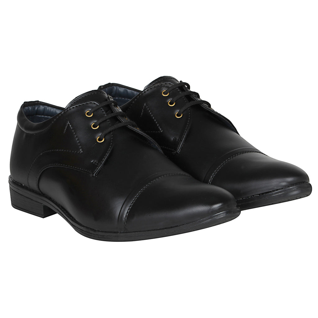 Kraasa 1080 Black Formal Shoes
