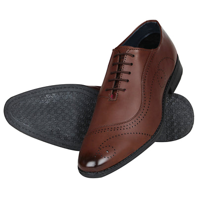 Kraasa 1081 Brown Formal Shoes