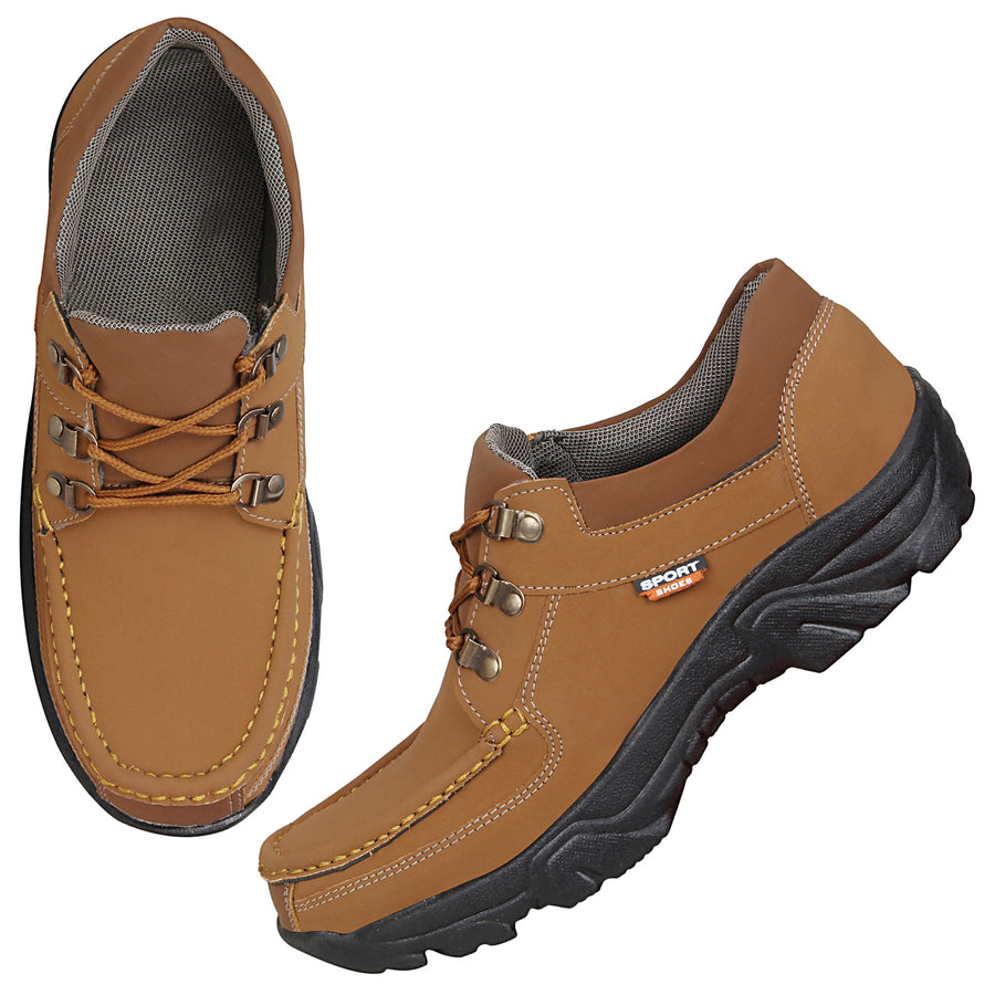 Kraasa 4181 Tan Casual Men Boots