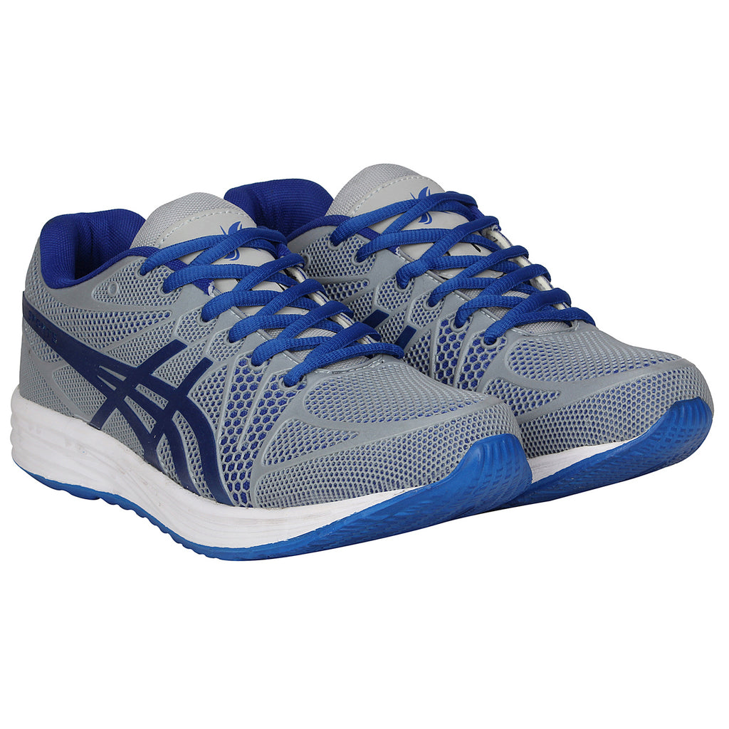 Kraasa 7056 GreyBlue Sports Running Shoes
