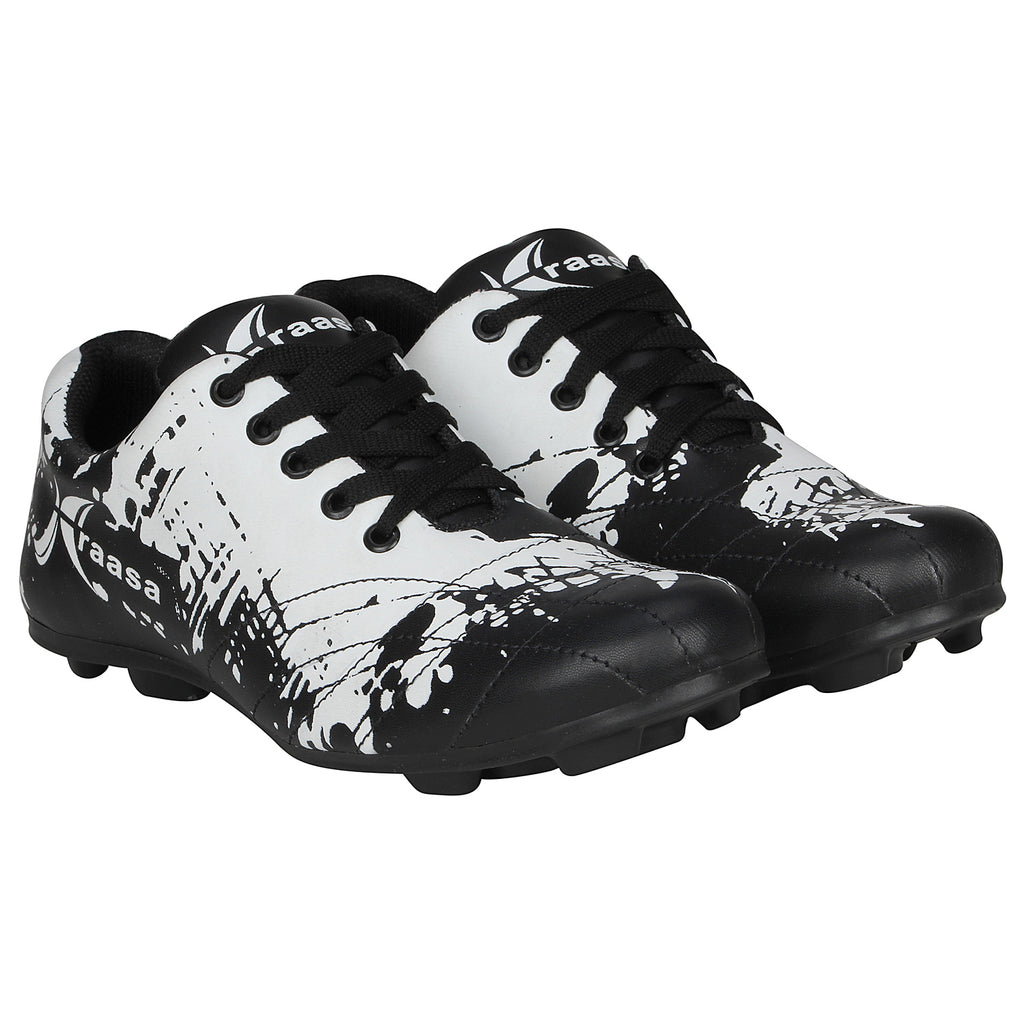 Kraasa 7060 BlackWhite Football Shoes