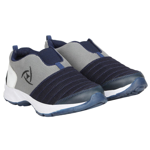 Kraasa 7046 NavyGrey Mocassin Sports Running Shoes