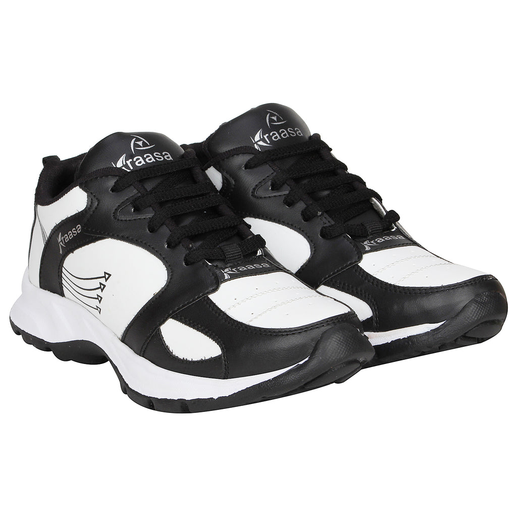Kraasa 7047 BlackWhite Running Sports Shoes